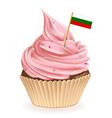 Bulgarian Cupcake vector image vector image