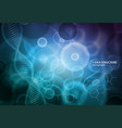cell and dna background molecular research vector image vector image