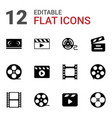 cinematography icons vector image vector image