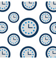 clock hours customer service assistance icon vector image