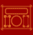 collection of frames in chinese style for design vector image vector image