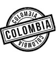 Colombia rubber stamp vector image