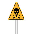 danger skull pole warning sign symbol design on vector image vector image
