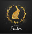 easter golden typography greeting card vector image vector image