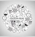 education online background design vector image