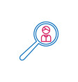 elections search man outline colored icon can be vector image