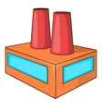 Factory icon flat style vector image vector image