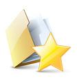 Favorite folder vector image vector image