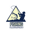 fishing logo with text space for your slogan vector image vector image