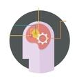 head with gear icon vector image vector image