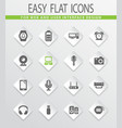 home appliances icons set vector image