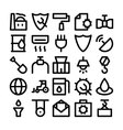 Industrial Icons 4 vector image vector image