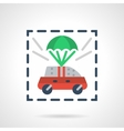 Insured car flat color design icon vector image vector image