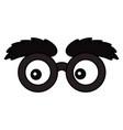 lens glasses cartoon vector image