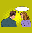 man and woman dialogue vector image vector image