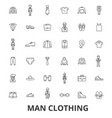 man clothing clothes fashion wear shoe tie vector image