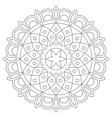 mandala design bohemian zen stroke pattern vector image vector image