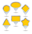 map pin collection vector image vector image