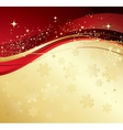 Merry Christmas card with gold snowflakes vector image