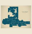modern city map - las vegas nevada city of the vector image vector image