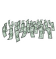 money dollars cash vector image