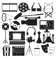 Movie icons collection vector image vector image