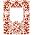 nordic frame pattern vector image vector image