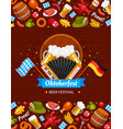 oktoberfest celebration flat color poster vector image