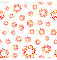 orange color abstract seamless circles design vector image vector image