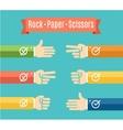 Rock Paper Scissor Hand Game vector image vector image