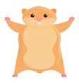 rodent hamster icon cartoon style vector image