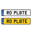 romania numberplate vector image vector image