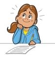 Schoolgirl Taking Test vector image vector image