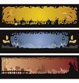 Set of 3 Halloween banners vector image vector image