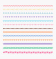 set of colorful line grunge hand drawn textures vector image vector image