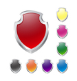 Set of shields on white vector image vector image