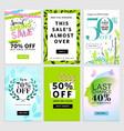 set social media sale banners vector image vector image