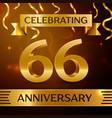 sixty six years anniversary celebration design