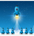 space leader rocket launch creative idea vector image vector image