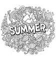 summer hand drawn cartoon doodles vector image vector image
