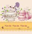 tea and cookies leaflet macaron design elements vector image
