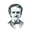 vintage portrait of a man albert camus vector image vector image