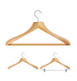 wooden clothes hangers set for jackets vector image vector image