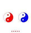yin yang symbol icon different color vector image