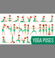 yoga woman poses set relaxation and vector image
