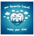 Your favorite travel vector image vector image
