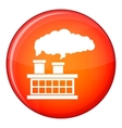 Plant pipe with smoke icon flat style vector image