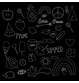 hand drawn chalkboard doodles collection vector image