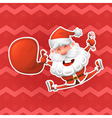 Christmas design elements Jolly Santa Claus is a vector image