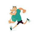 smiling running man vector image